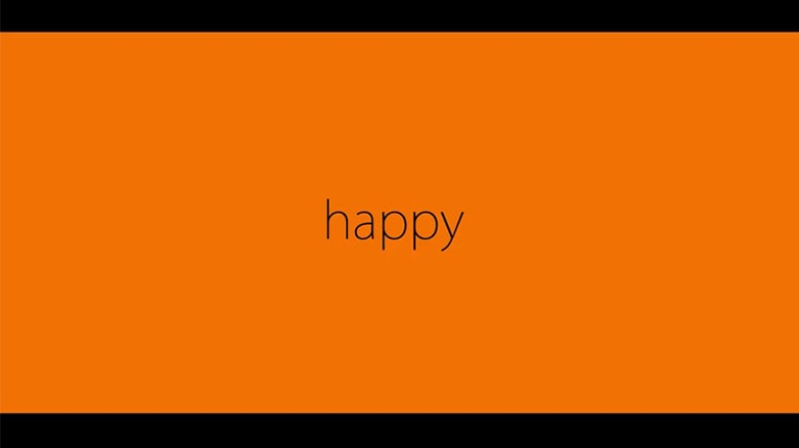 Orange Clip HAPPY