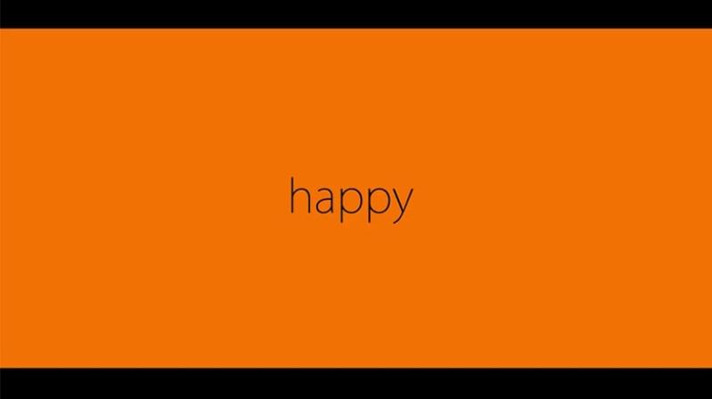 Orange Clip HAPPY